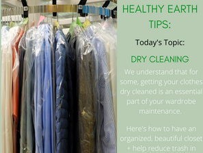 Dry Cleaning + How To Reduce Waste