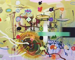Color Grooves_acrylic on canvas_73 x 91cm_2014
