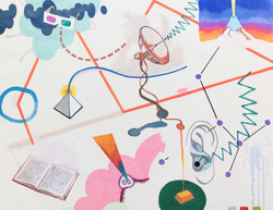 space-time drifter_시공간 나그네_acrylic on canvas, animation2분34초_131 x 117cm_2013