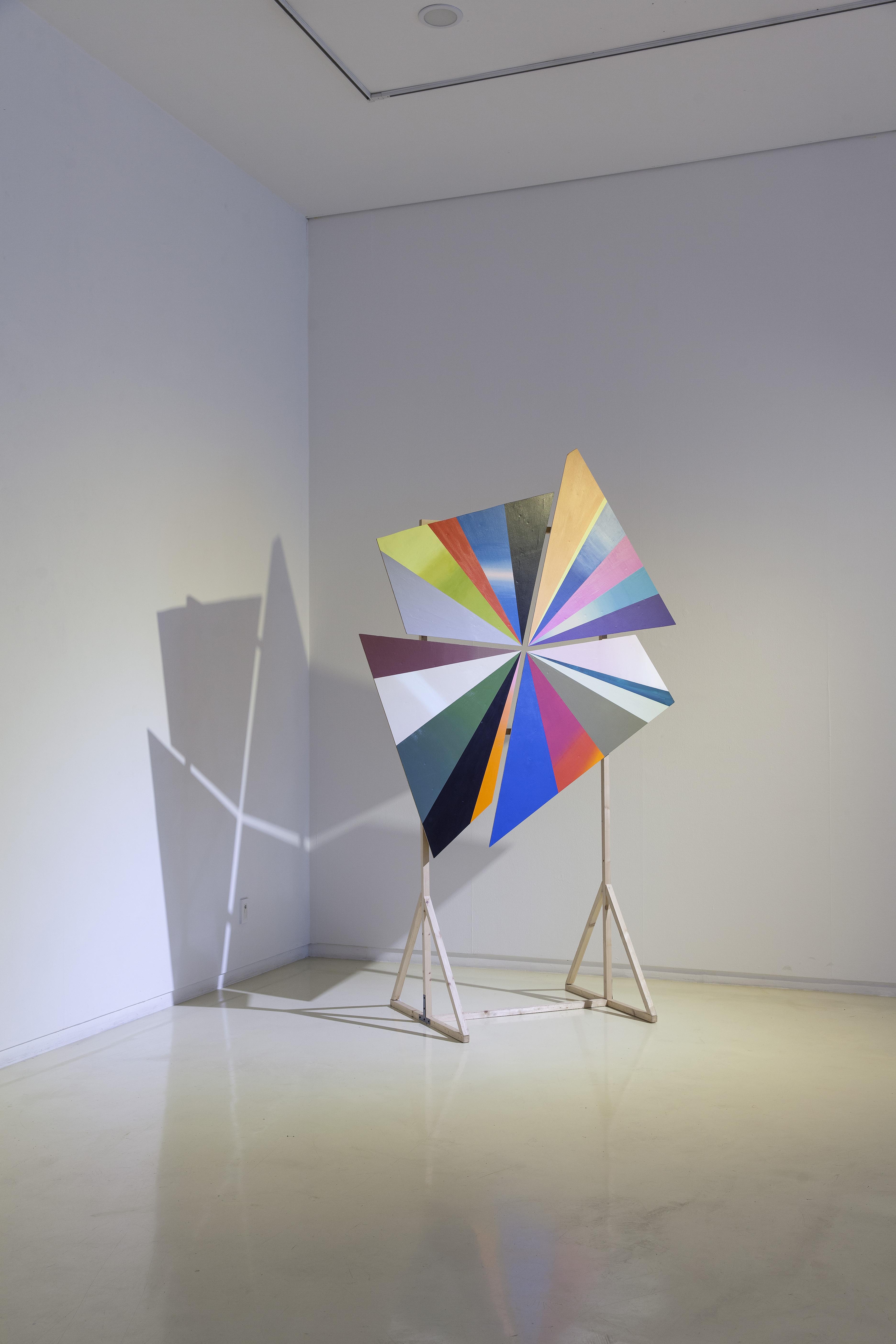 Light Mill_빛개비_acrylic on wood_255h x 160w x 80d_ 2016
