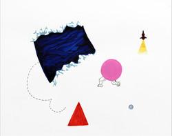 바다괴물과 싸우는 핑크_watercolor and ink on paper_28x35cm_2013
