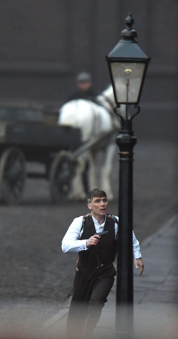 Cillian Murphy filming in Liverpool