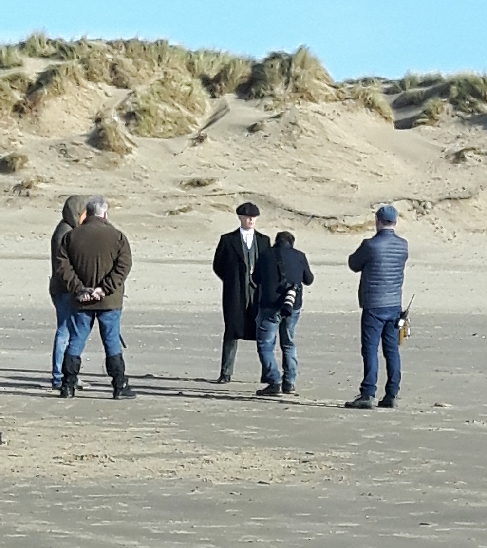 Cillian Murphy as Thomas Shelby on Formby Beach