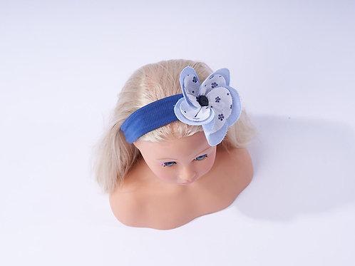 Mädchenhaarband mit Blume blau