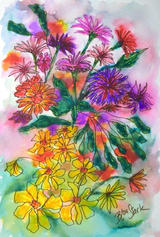 Surprise_Bouquet_5.5x8_watercolor_pen_in