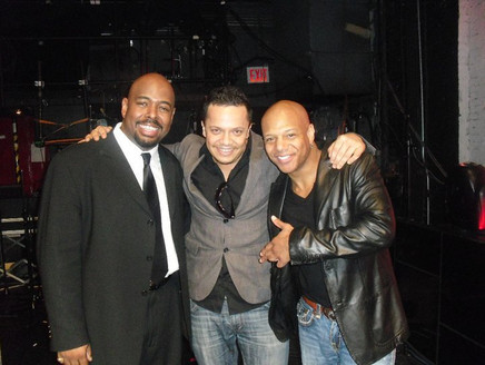 Hang after the soundcheck with Christian McBride ,Mark Whitfield