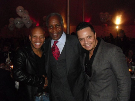 At the Jazz Foundation party with Mark Whitfield and Denny Glover
