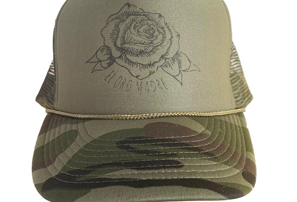 Camo Rose Trucker Cap