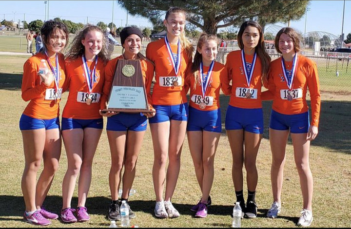 Girls' cross country wraps up season as district champs