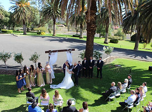 ceremony on front lawns.JPG