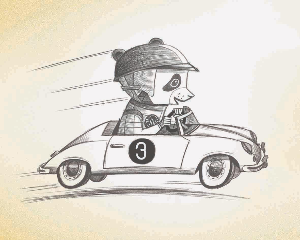 Ping in car