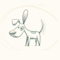 Dog sketch for I Really Want a Pet