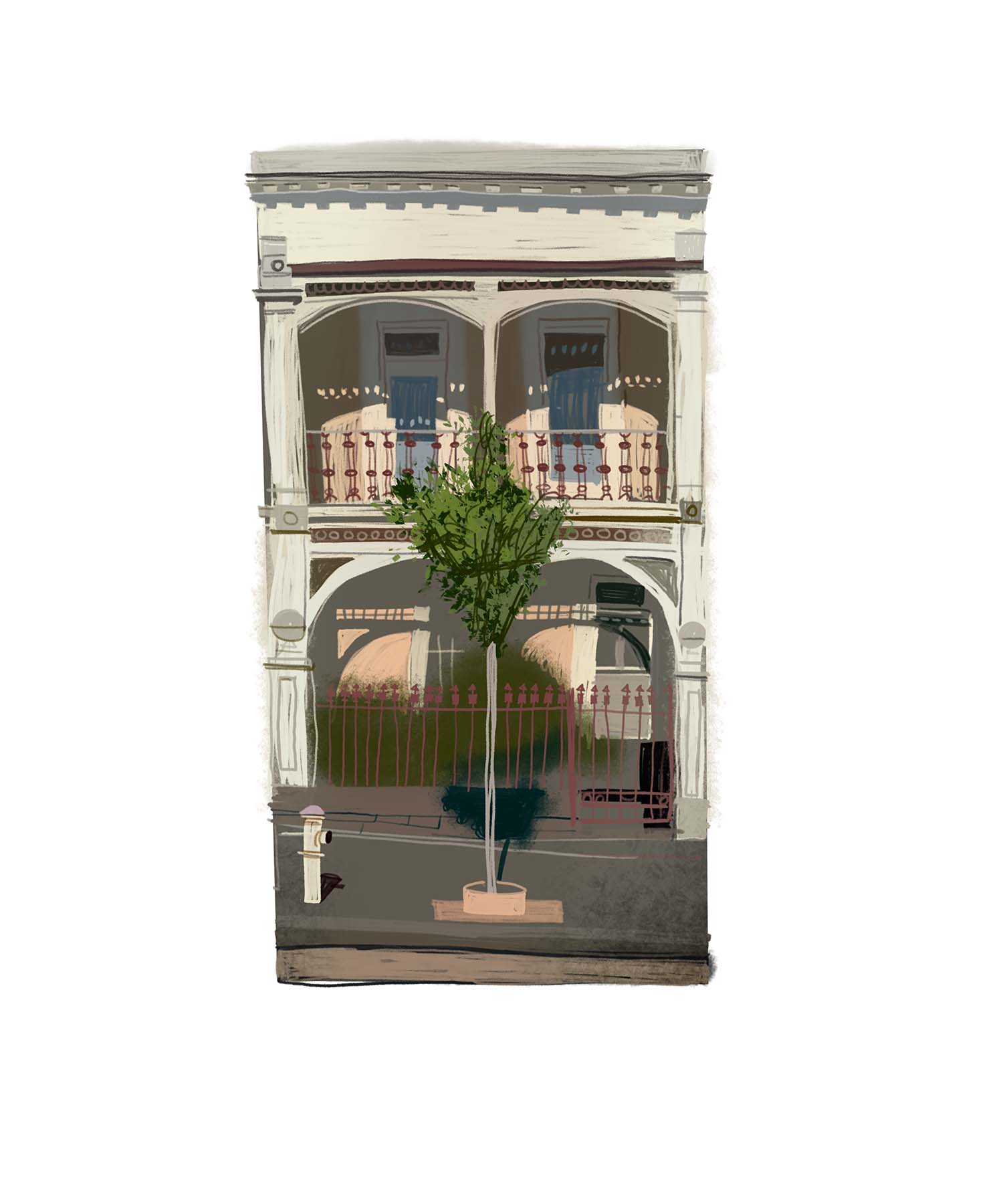 House in East Melbourne with tree