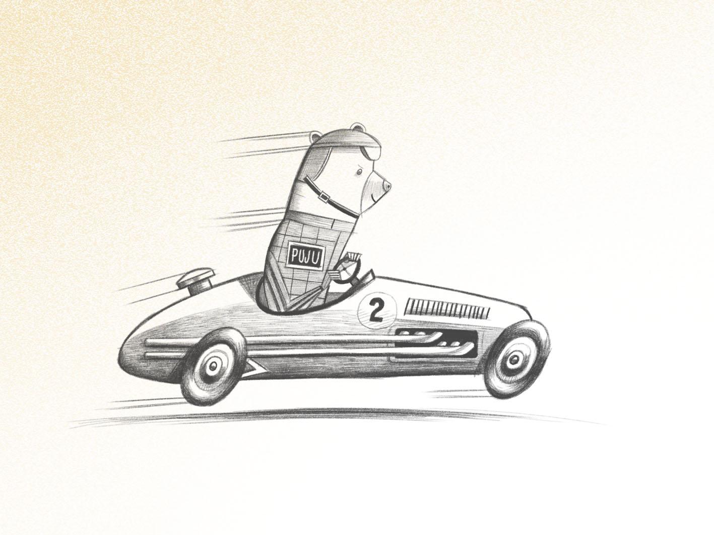 Puju in car