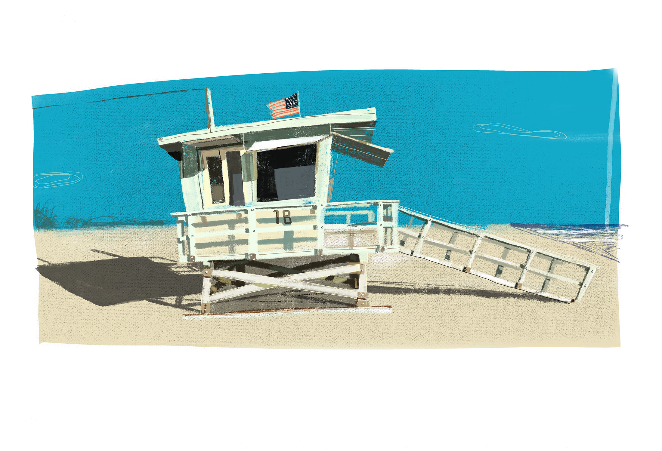 Lifeguard Tower, Santa Monica