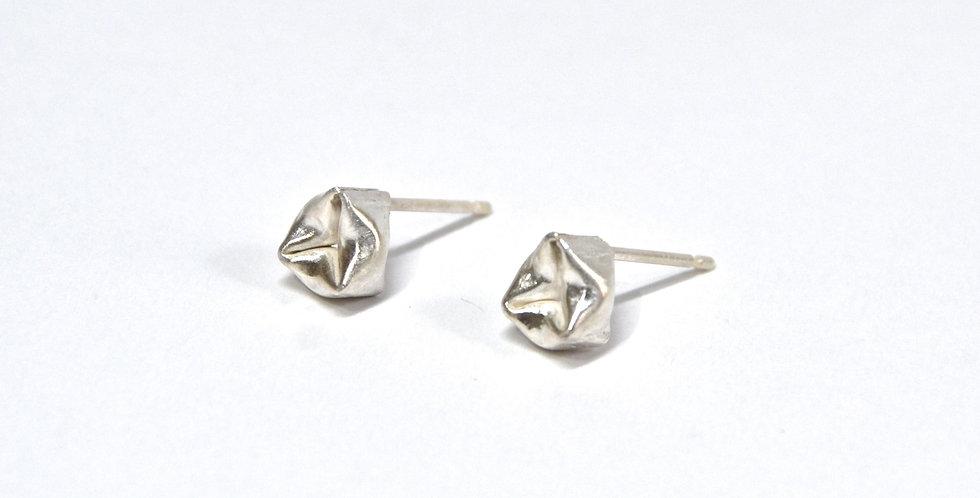 'Trillanfy' sterling silver stud earrings