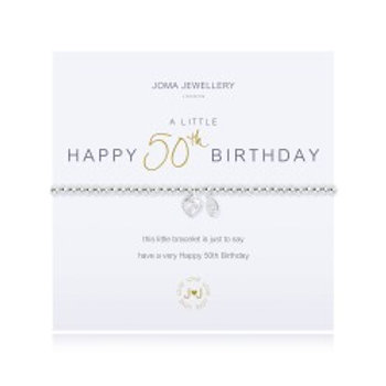 Joma Jewellery 'A little......' Adult Bracelet - 50th Birthday