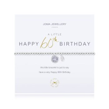 Joma Jewellery 'A little......' Adult Bracelet - 60th Birthday