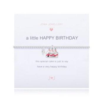 Joma Jewellery 'a little.....' Girl's Bracelet - Happy Birthday