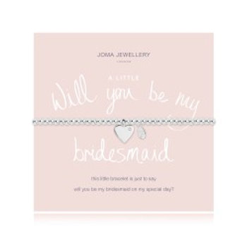 Joma Jewellery 'A little......' Adult Bracelet - Will You Be My Bridesmaid