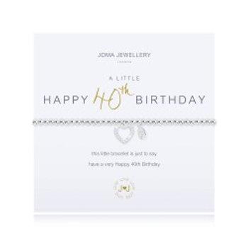 Joma Jewellery 'A little......' Adult Bracelet - 40th Birthday