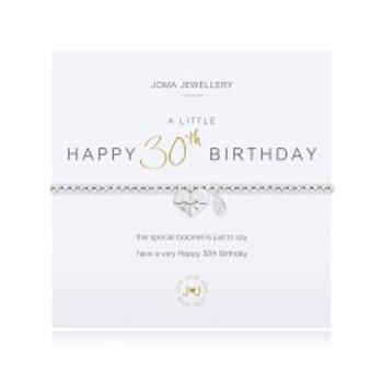 Joma Jewellery 'A little......' Adult Bracelet - 30th Birthday