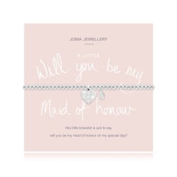 Joma Jewellery 'A little......' Adult Bracelet - Will You Be My Maid Of Honour