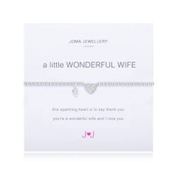 Joma Jewellery 'A little......' Adult Bracelet - Wife