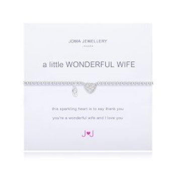 Joma Jewellery 'A little......' Adult Bracelet - Wife