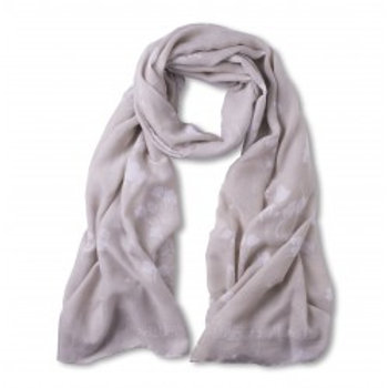Katie Loxton Scarf 'Blooming Marvellous' - Stone Grey