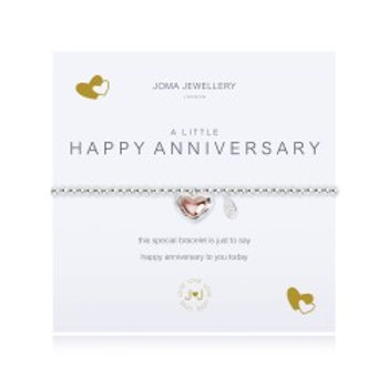Joma Jewellery 'A little......' Adult Bracelet - Happy Anniversary