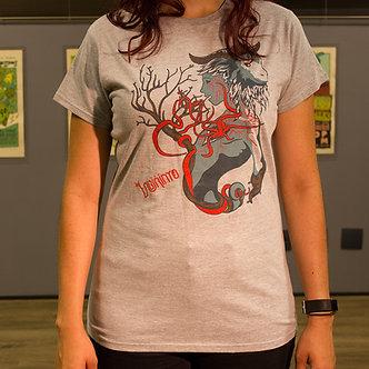 Labirinto - Camiseta Anatema Feminina Cinza