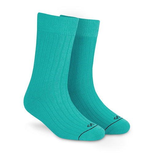 Dynamocks Savvy Excellence Socks | India | Solid Turquoise Crew Length Socks R