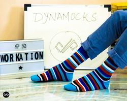 Dynamocks Stripes 1.0 Men & Women Crew Length Socks