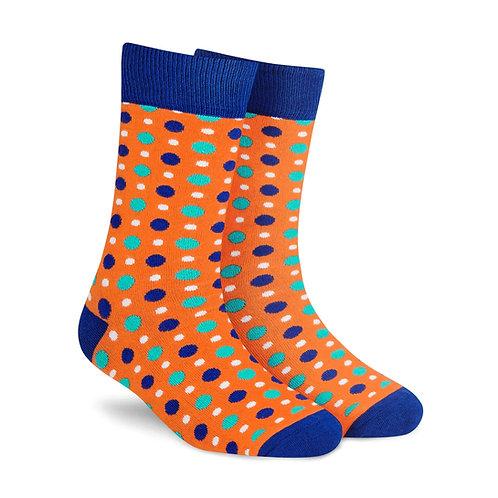 Dynamocks Fizzy Orange Crew Length socks for men and women India