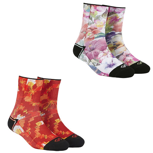 Dynamocks Artistic Socks | India | #7 Super Saver Pack | Unisex Quarter Ankle Length Socks | Pack of 2 Pairs