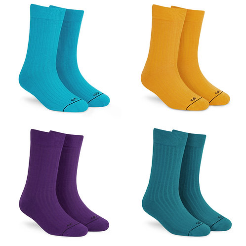 Dynamocks Solid Crew Socks - Pack of 4 Pairs #2