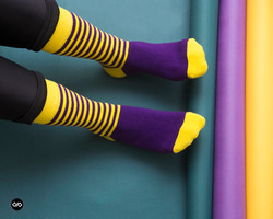 Dynamocks Stripes DUO Men & Women Crew Length Socks