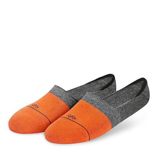 Dynamocks Invisibles Socks | India | Dual Solid Orange & Grey