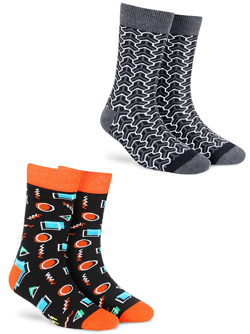 Dynamocks Neon + Trios men and women crew length socks