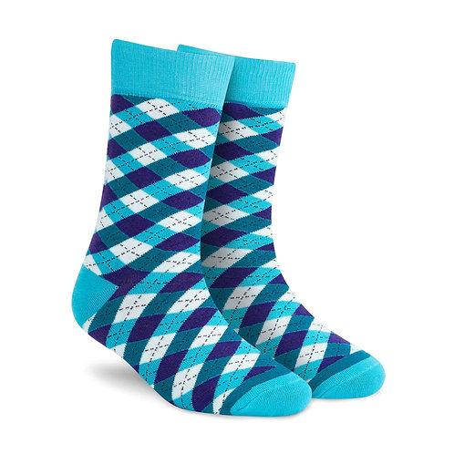 Dynamocks Dandy Aqua Crew Length socks for men and women India