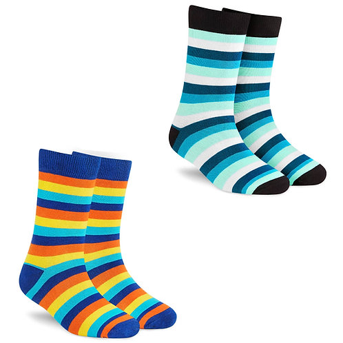 Dynamocks Stripes Collection for Men & Women - Pack of 2 Pairs Image