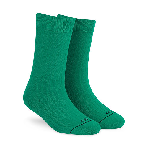 Dynamocks Savvy Excellence Socks | India | Solid Green Crew Length Socks R
