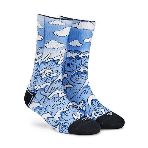 Dynamocks Artistic Socks | India | Waves Crew Length Socks R