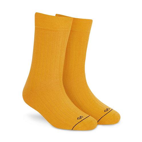 Dynamocks Savvy Excellence Socks | India | Solid Mango Crew Length Socks R