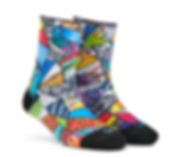 Dynamocks Art Bomb Men & Women Quarter Ankle Length Socks