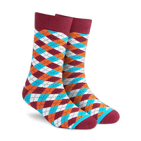 Dynamocks Dandy Maroon Crew Length socks for men and women India