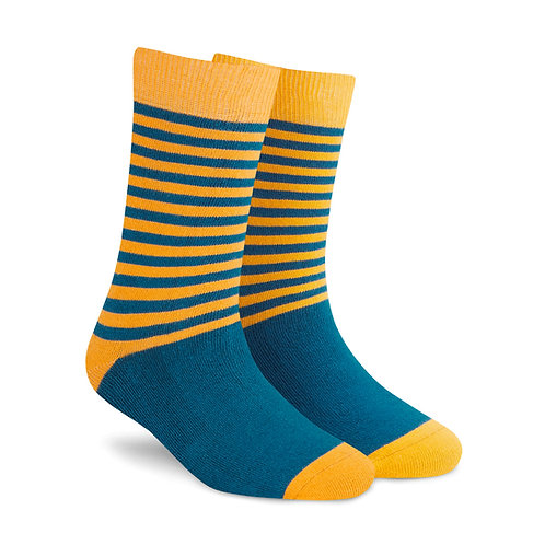 Stripes DUO 1.0 men and women crew length socks right angle
