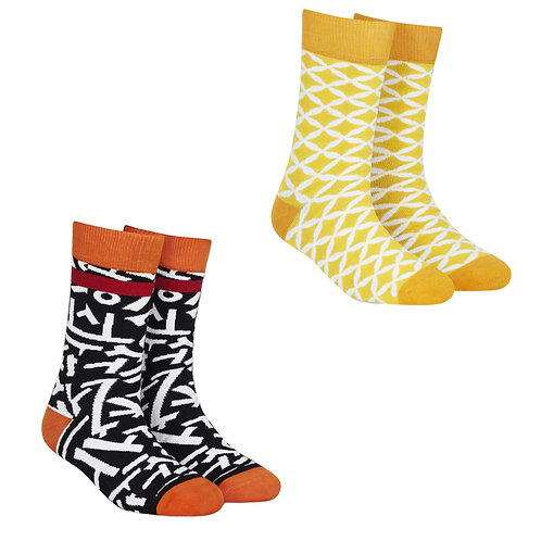 Dynamocks Cotton Excellence Socks | India | #11 Super Saver Pack | Unisex Crew Length Socks | Pack of 2 Pairs