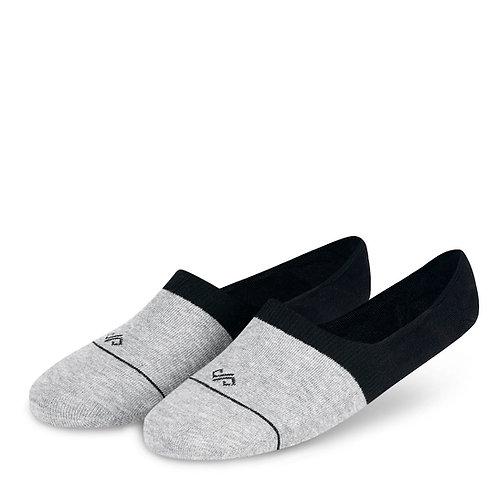 Dynamocks Men and women loafer socks - grey + black